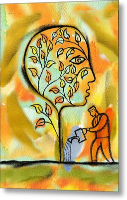 Nurturing And Caring Metal Print by Leon Zernitsky