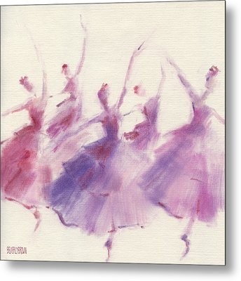 Nutcracker Ballet Waltz Of The Flowers Metal Print by Beverly Brown Prints