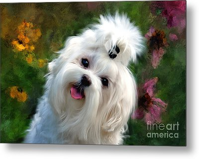Nuttin But Love Painterly Metal Print by Lois Bryan