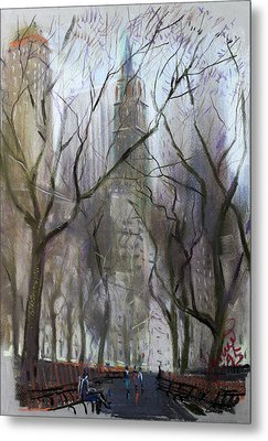 Nyc Central Park 1995 Metal Print by Ylli Haruni