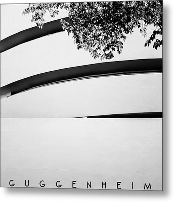 Nyc Guggenheim Metal Print by Nina Papiorek