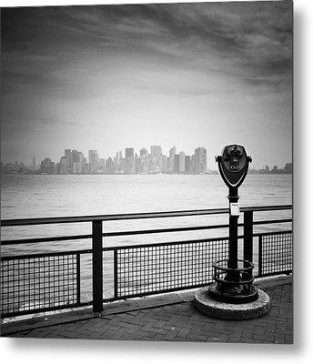 Nyc Manhattan View Metal Print by Nina Papiorek
