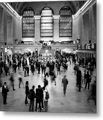 Nyc Rush Hour Metal Print by Nina Papiorek