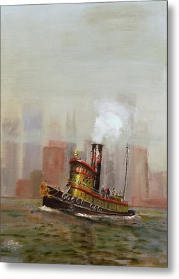 Nyc Tug Metal Print by Christopher Jenkins