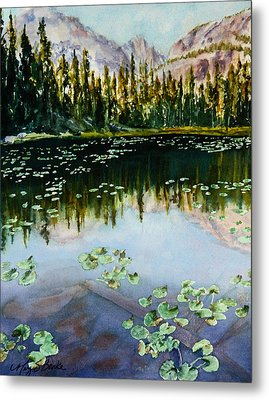 Nymph Lake Metal Print by Mary Benke