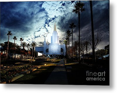 Oakland California Temple . The Church Of Jesus Christ Of Latter-day Saints Metal Print by Wingsdomain Art and Photography