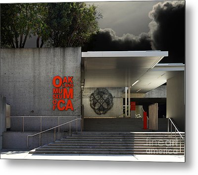 Oakland Museum Of California . 7d13037 Metal Print by Wingsdomain Art and Photography