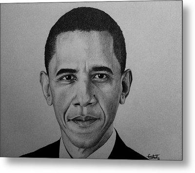 Obama Metal Print by Carlos Velasquez Art