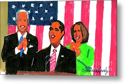 Obama's State Of The Union '10 Metal Print by Candace Lovely