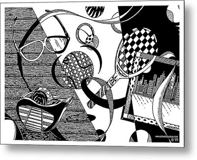 Objects And Ribbon Metal Print by James Sayer