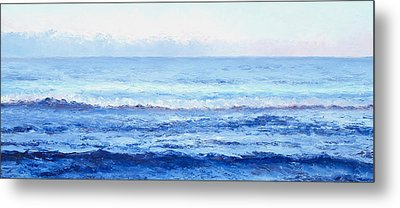 Ocean Art - Cobalt Blue Ocean Metal Print by Jan Matson