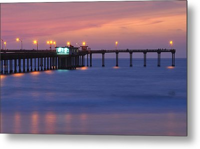 Ocean Beach Pier Metal Print by Kelly Wade