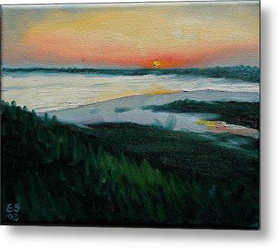 Ocean Sunset No.1 Metal Print by Erik Schutzman