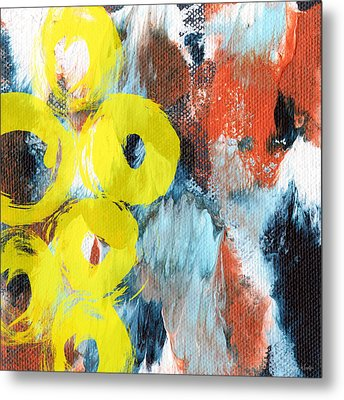 October- Abstract Art By Linda Woods Metal Print by Linda Woods