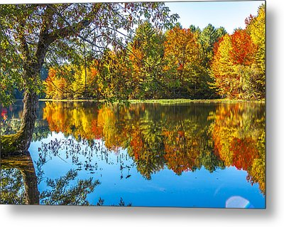 October Reflection Metal Print by Laurie Breton