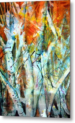 October Woods Metal Print by Mindy Newman
