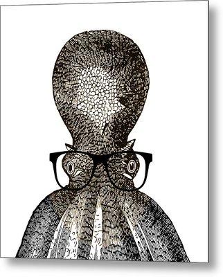 Octopus Head Metal Print by Frank Tschakert