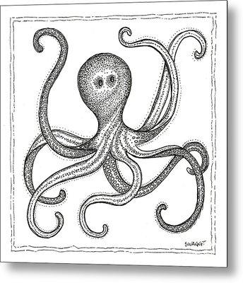 Octopus Metal Print by Stephanie Troxell