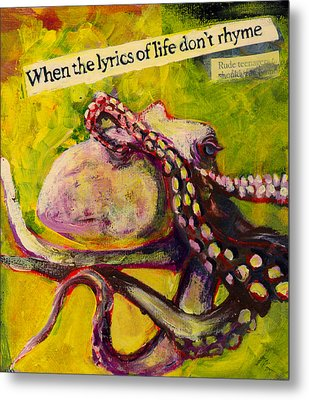 Octopus Metal Print by Tilly Strauss