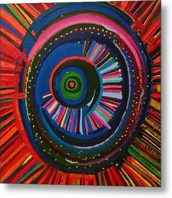 Ocular Energy Path Metal Print by Daina White