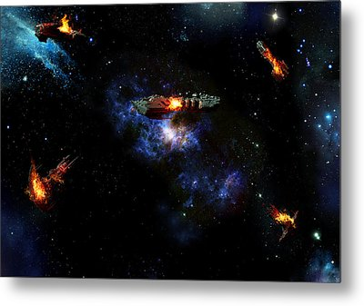 Off The Shoulder Of Orion Metal Print by Joseph Soiza