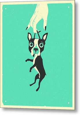Off To Get Neutered Metal Print by Jazzberry Blue