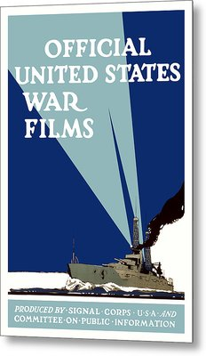 Official United States War Films Metal Print by War Is Hell Store