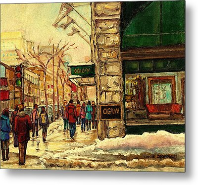 Ogilvys Department Store Downtown Montreal Metal Print by Carole Spandau