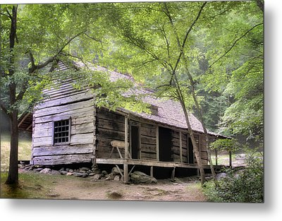 Ogle Homestead - Smoky Mountain Rustic Cabin Metal Print by Thomas Schoeller