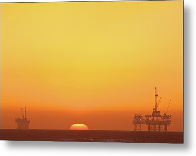 Oil Rig Metal Print by Eric Lo