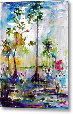 Okefenokee Wild Free And Peaceful Metal Print by Ginette Callaway