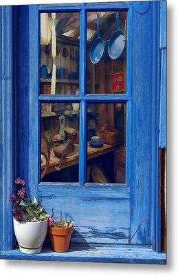 Ol' Country Store Window Metal Print by Chrystyne Novack