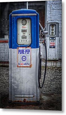 Old And Rusty  Pump  Metal Print by Emmanuel Panagiotakis