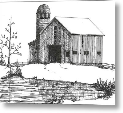 Old Barn 1 Metal Print by BJ Shine