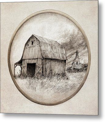 Old Barn Metal Print by Eric Fan