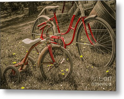 Old Bikes For Sale Metal Print by Randy Steele