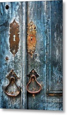 Old Blue Door Metal Print by Carlos Caetano