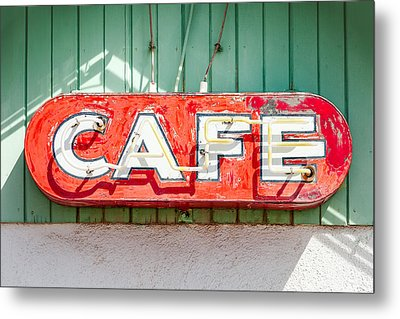 Old Cafe Sign Metal Print by Todd Klassy