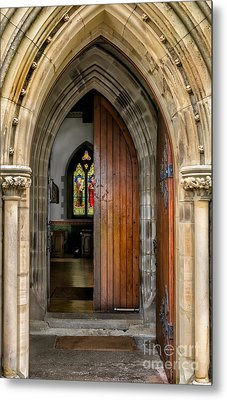Old Church Entrance Metal Print by Adrian Evans