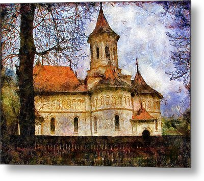 Old Church With Red Roof Metal Print by Jeff Kolker