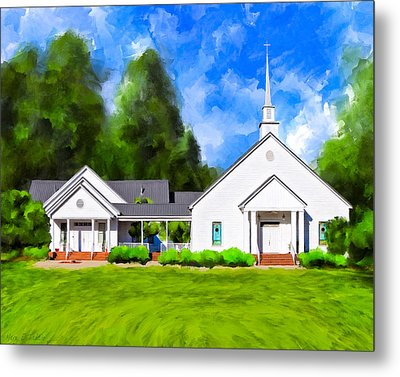 Old Country Church - Whitewater Baptist Metal Print by Mark Tisdale
