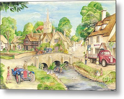 Old English Village Metal Print by Morgan Fitzsimons