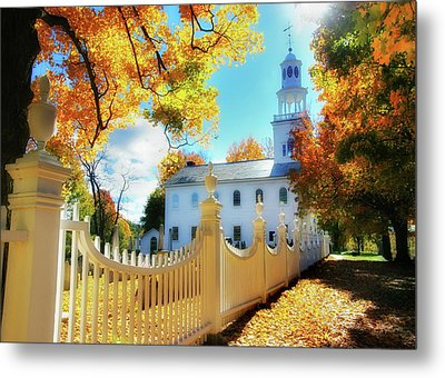 Old First Church Of Bennington Metal Print by Thomas Schoeller