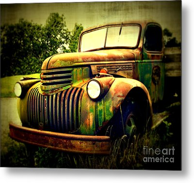 Old Flatbed 2 Metal Print by Perry Webster