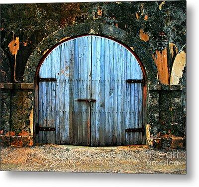Old Fort Doors Metal Print by Perry Webster