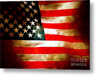 Old Glory Patriot Flag Metal Print by Phill Petrovic