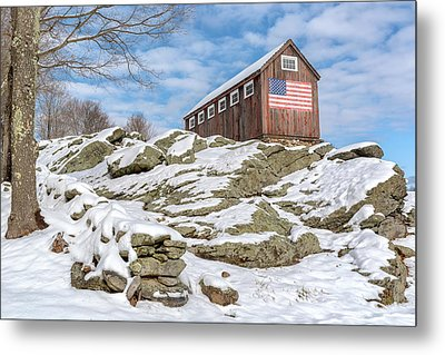 Old Glory Winter Metal Print by Bill Wakeley
