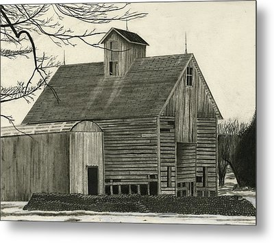 Old Grainery Metal Print by Bryan Baumeister