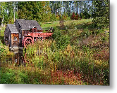 Old Grist Mill Metal Print by Bill Wakeley