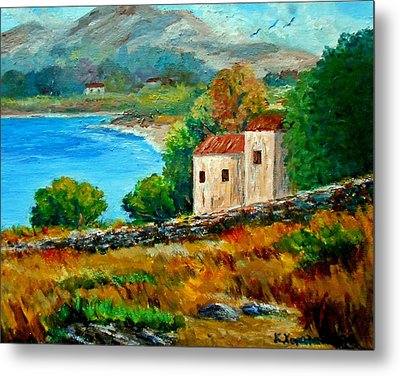 Old House In Mani Metal Print by Constantinos Charalampopoulos